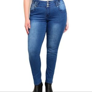 NEW Mid Rise Skinny Jeans Essentials Plus Size 18
